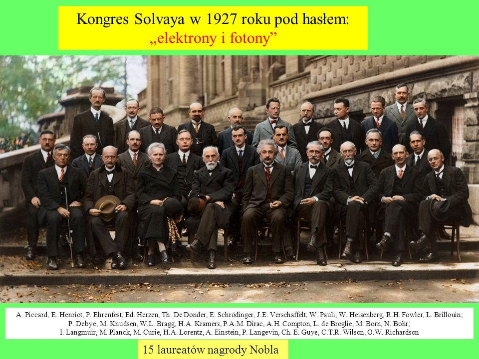 """Kongres Solvaya w 1927 roku pod hasłem: """"elektrony i fotony"""