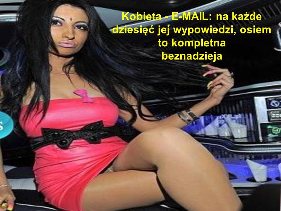 Kobieta - E-MAIL: na każde dziesięć jej wypowiedzi, osiem to kompletna beznadzieja