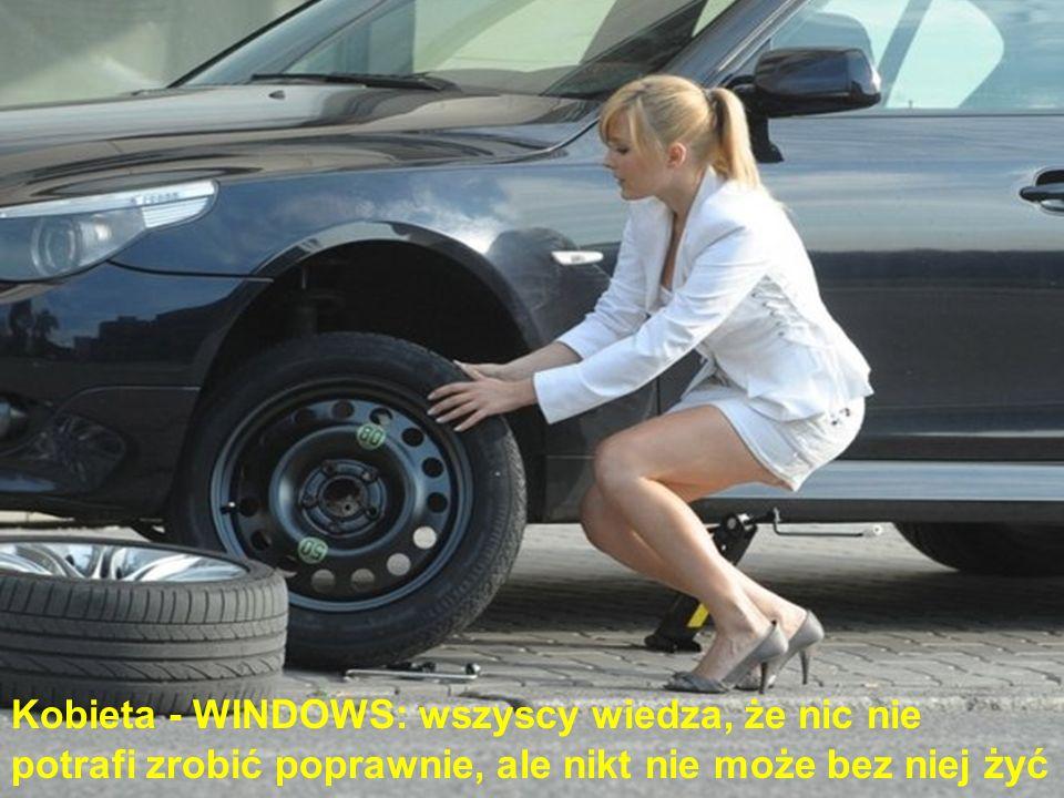 Kobieta - WINDOWS: wszyscy wiedza, że nic nie potrafi zrobić poprawnie, ale nikt nie może bez niej żyć