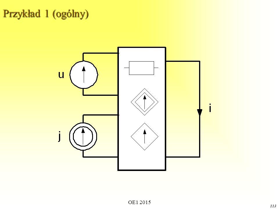 Przykład 1 (ogólny) OE1 2015