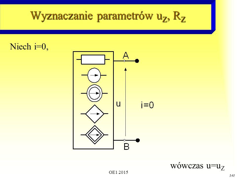 Wyznaczanie parametrów uZ, RZ