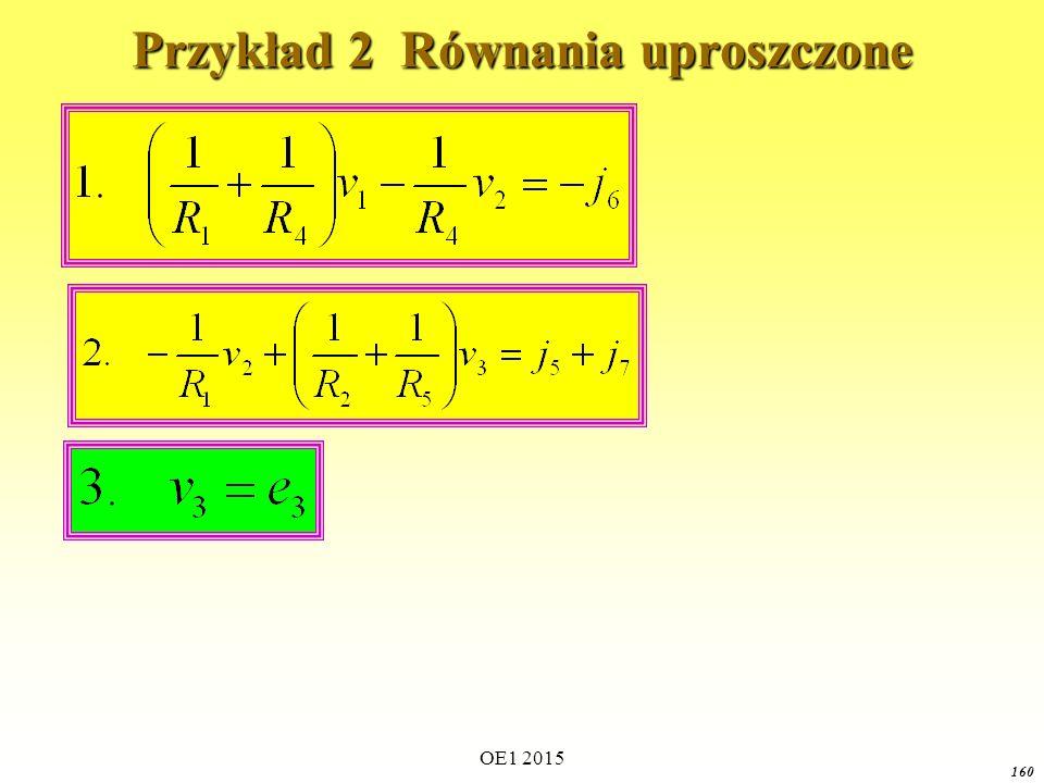 Przykład 2 Równania uproszczone