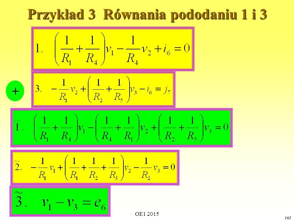 Przykład 3 Równania pododaniu 1 i 3