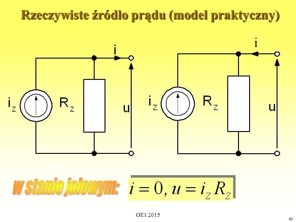 Rzeczywiste źródło prądu (model praktyczny)