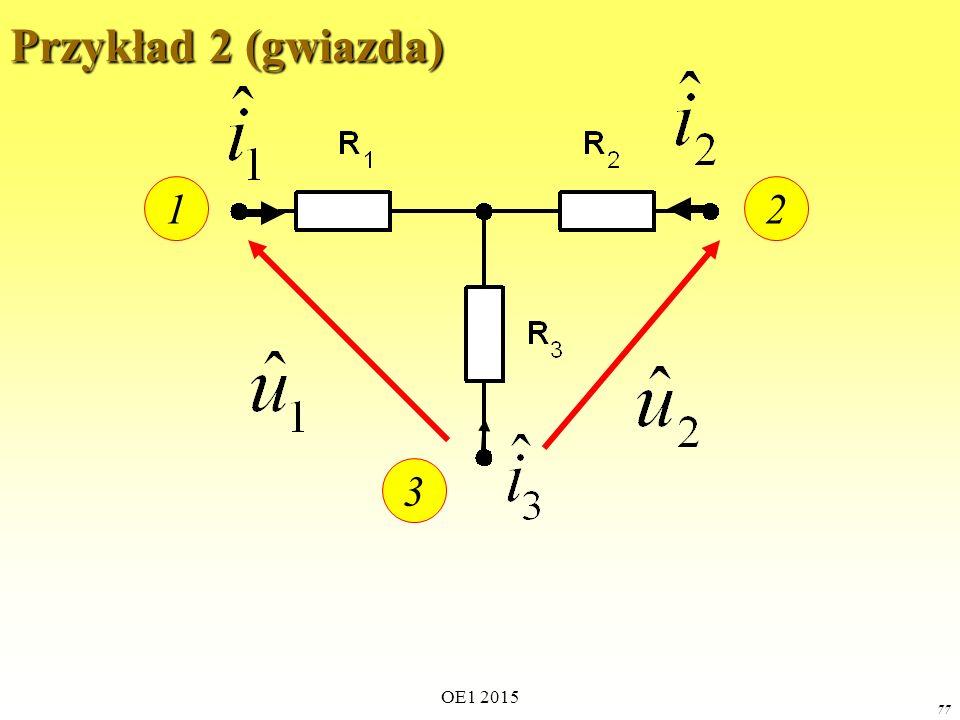 Przykład 2 (gwiazda) 1 2 3 OE1 2015