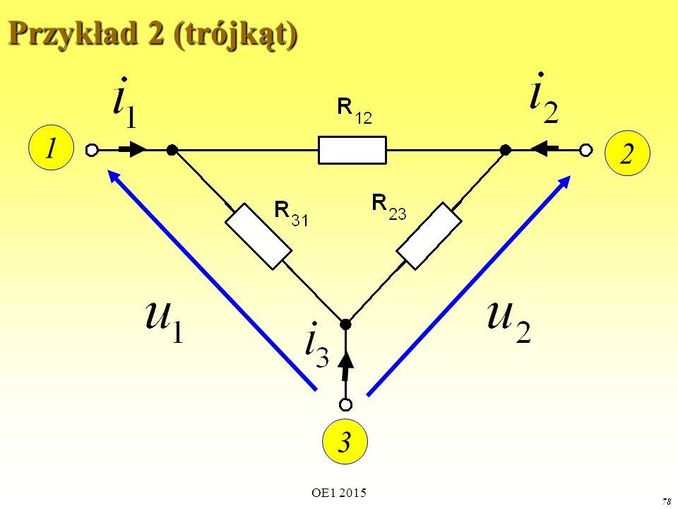 Przykład 2 (trójkąt) 1 2 3 OE1 2015