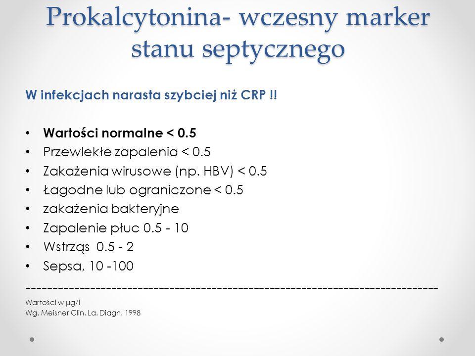 Prokalcytonina- wczesny marker stanu septycznego