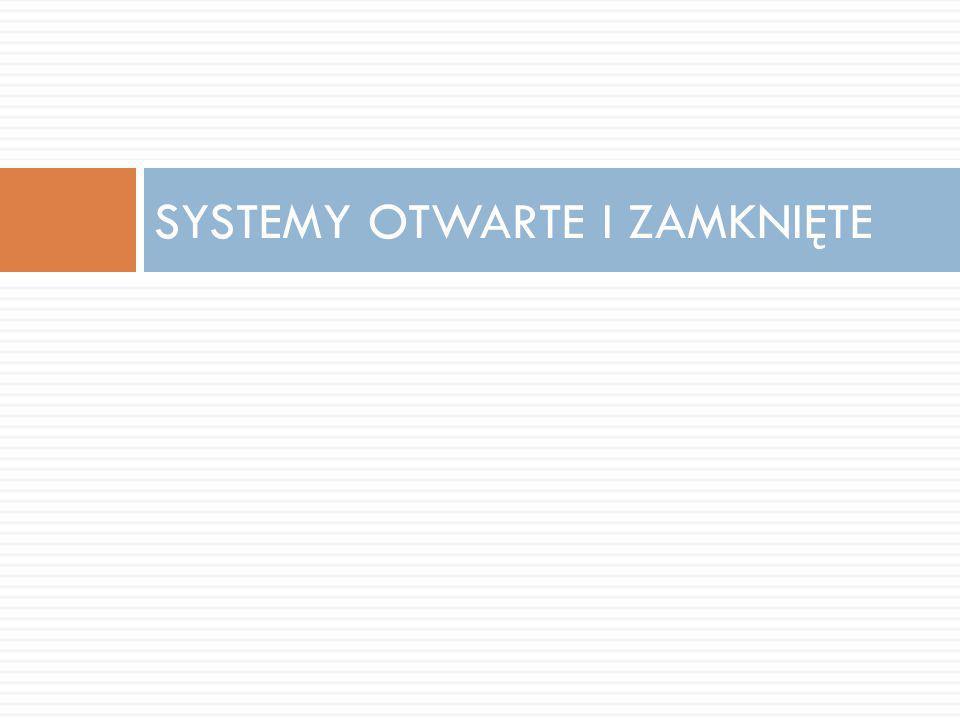 SYSTEMY OTWARTE I ZAMKNIĘTE