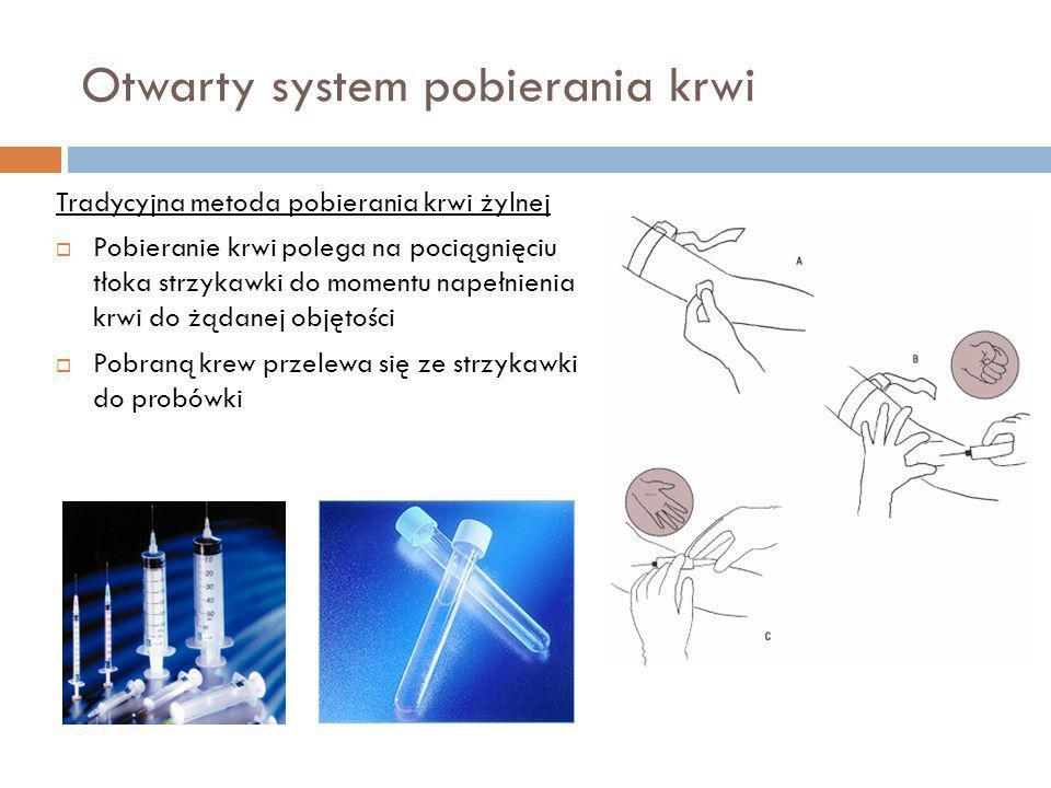 Otwarty system pobierania krwi