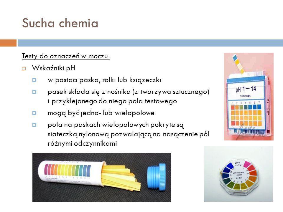 Sucha chemia Testy do oznaczeń w moczu: Wskaźniki pH