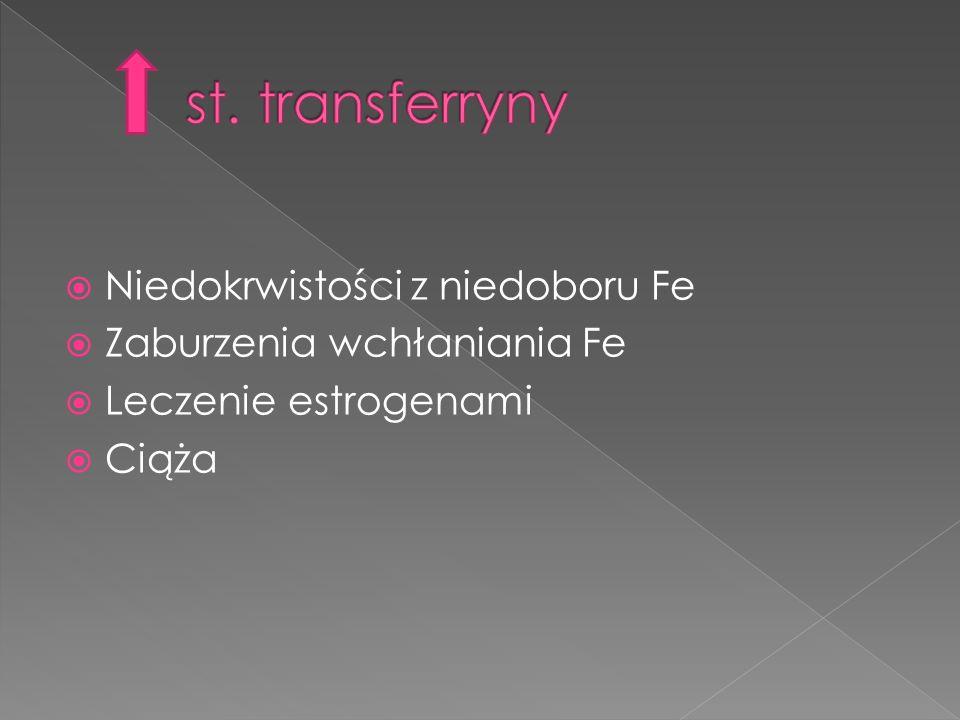 st. transferryny Niedokrwistości z niedoboru Fe