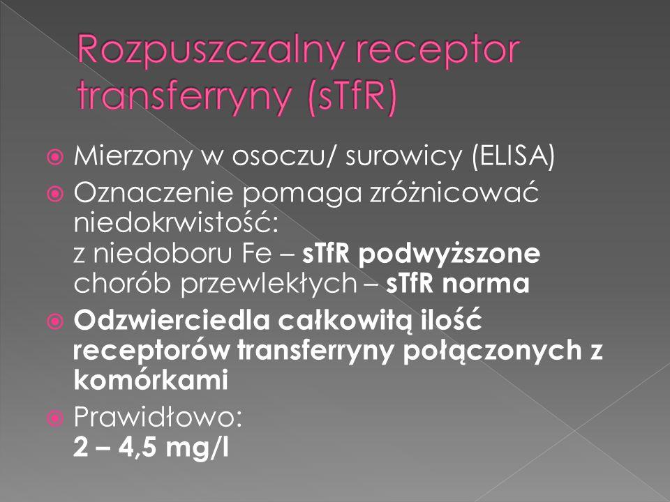 Rozpuszczalny receptor transferryny (sTfR)