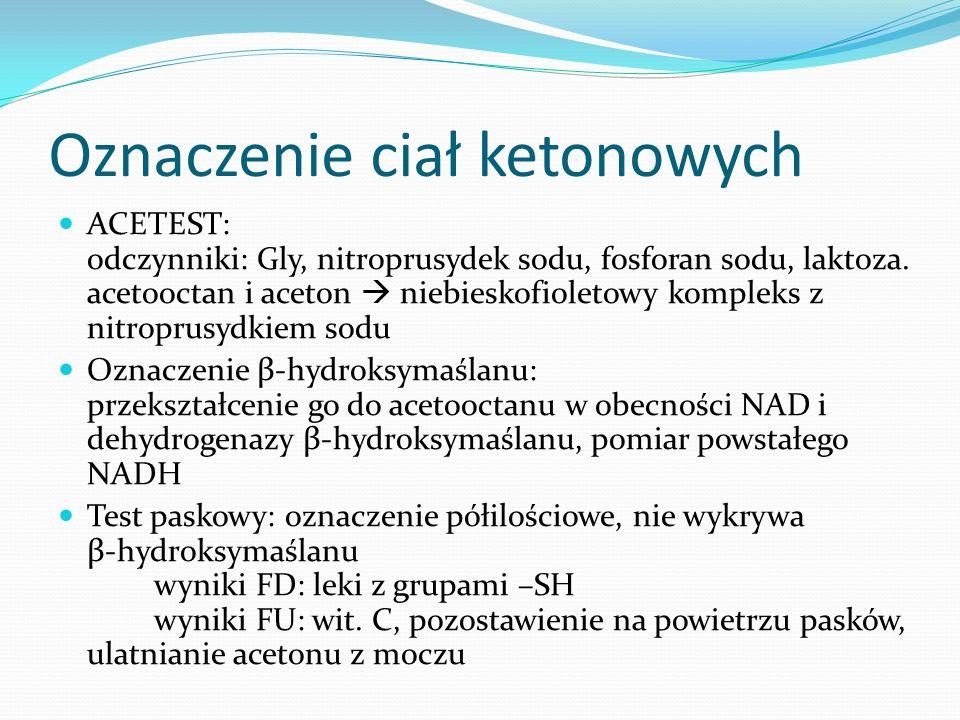 Oznaczenie ciał ketonowych