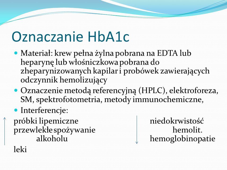 Oznaczanie HbA1c