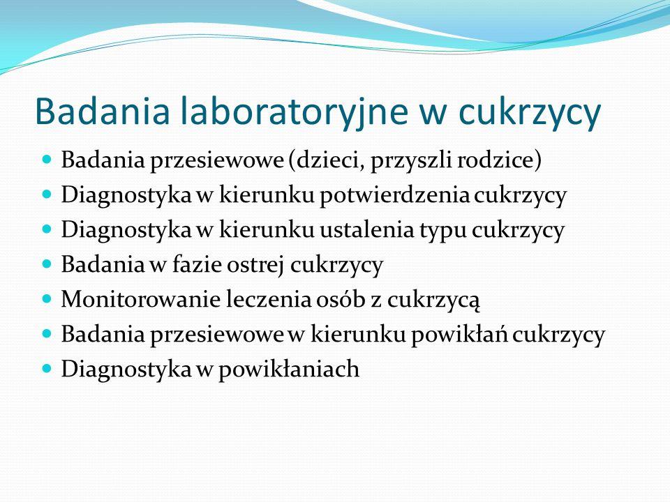 Badania laboratoryjne w cukrzycy