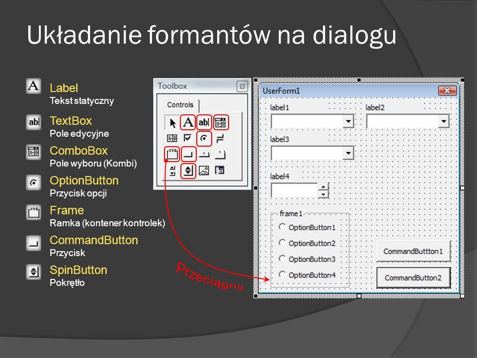 Układanie formantów na dialogu