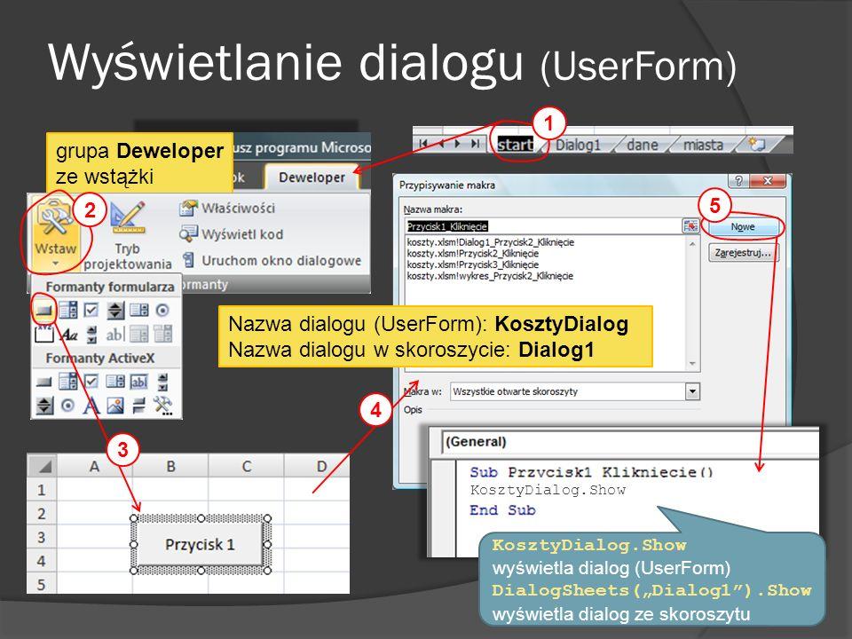 Wyświetlanie dialogu (UserForm)