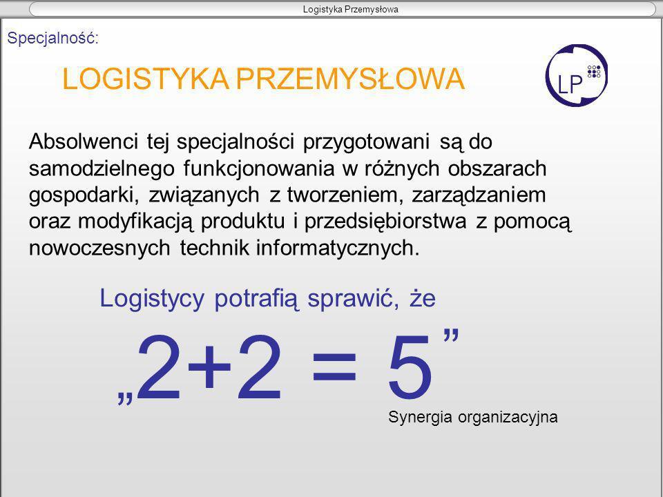 """""""2+2 = 5 LOGISTYKA PRZEMYSŁOWA Logistycy potrafią sprawić, że"""