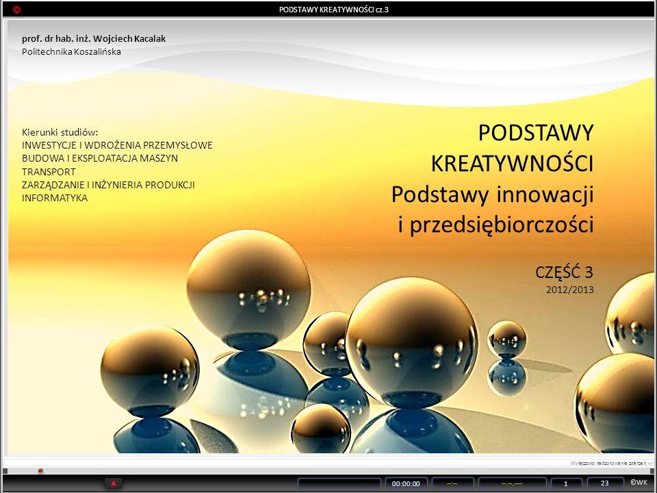 PODSTAWY KREATYWNOŚCI cz.3