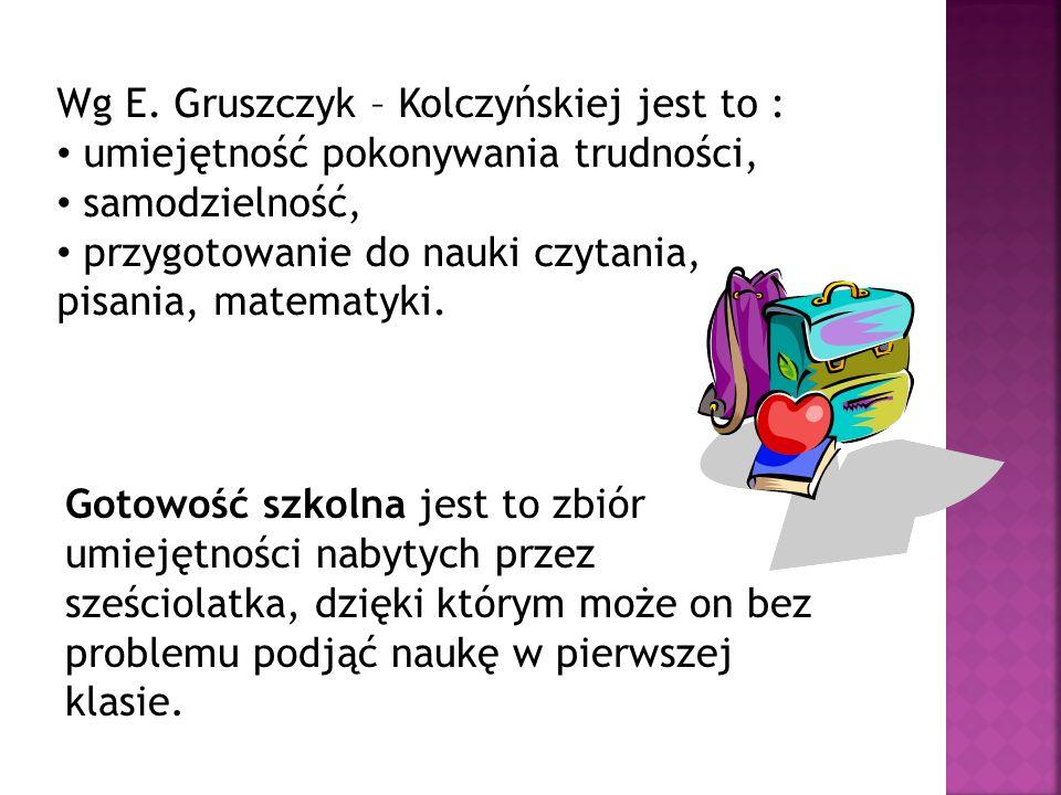 Wg E. Gruszczyk – Kolczyńskiej jest to :