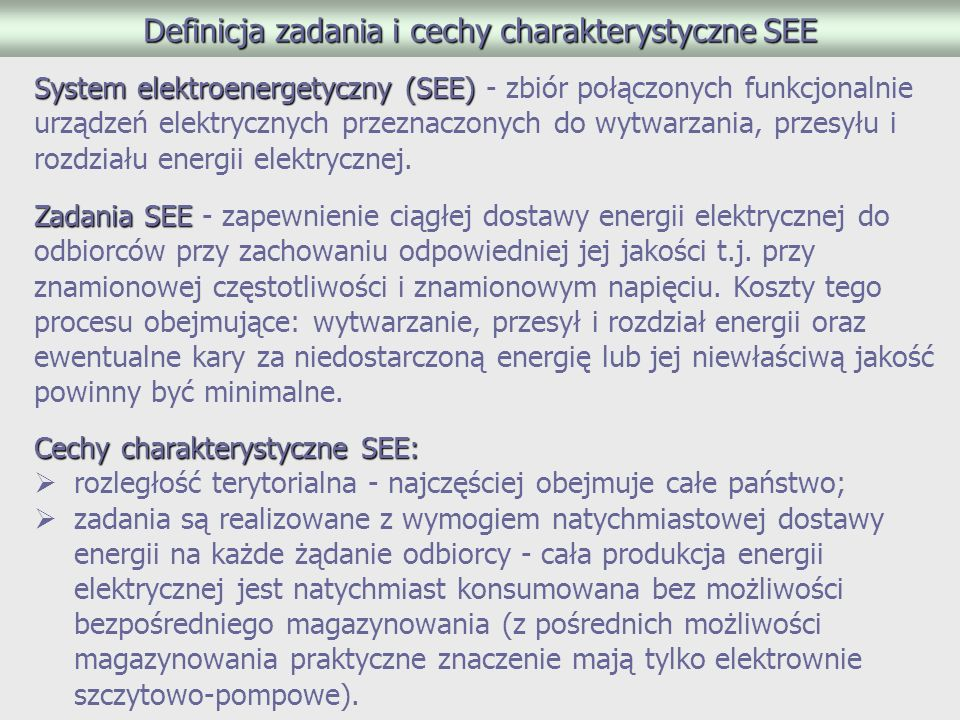 Definicja zadania i cechy charakterystyczne SEE