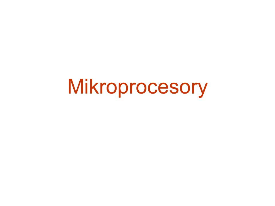 Mikroprocesory