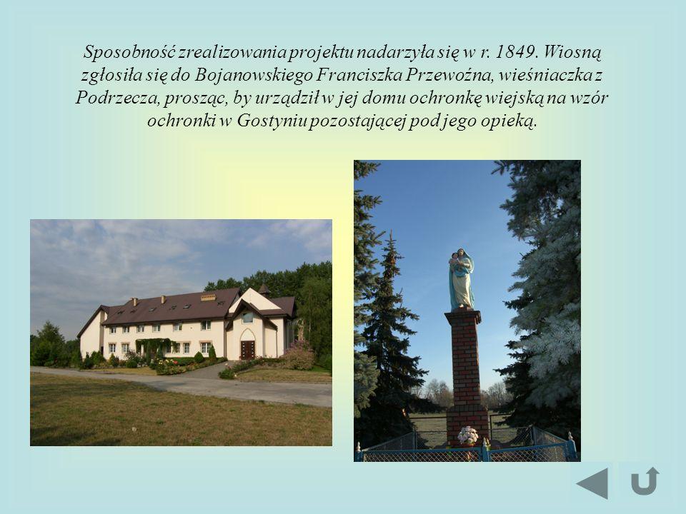 Sposobność zrealizowania projektu nadarzyła się w r. 1849