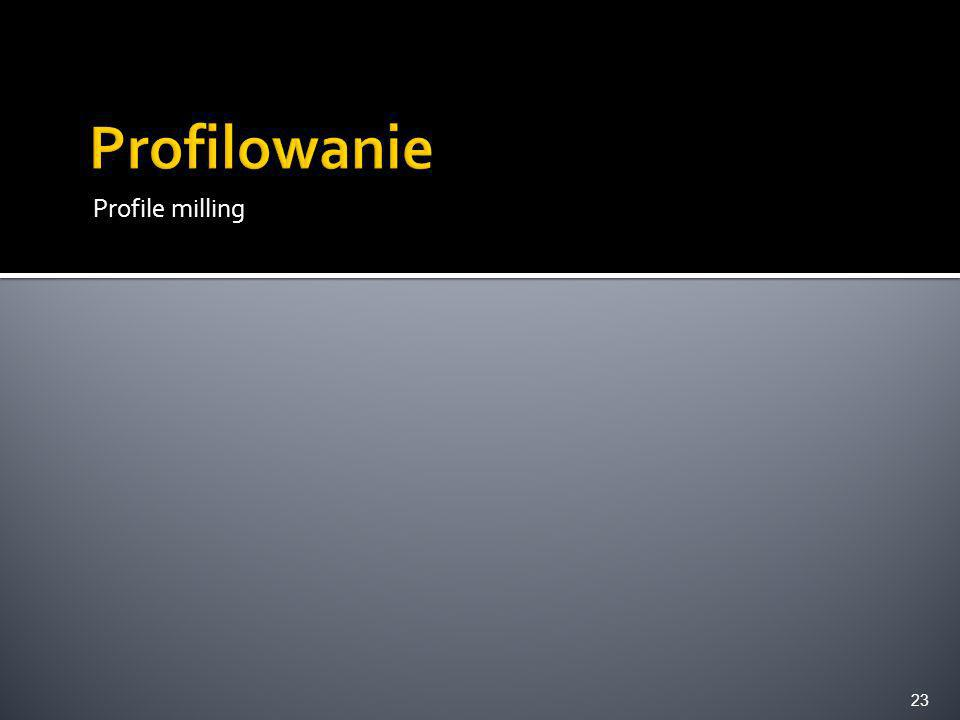 Profilowanie Profile milling
