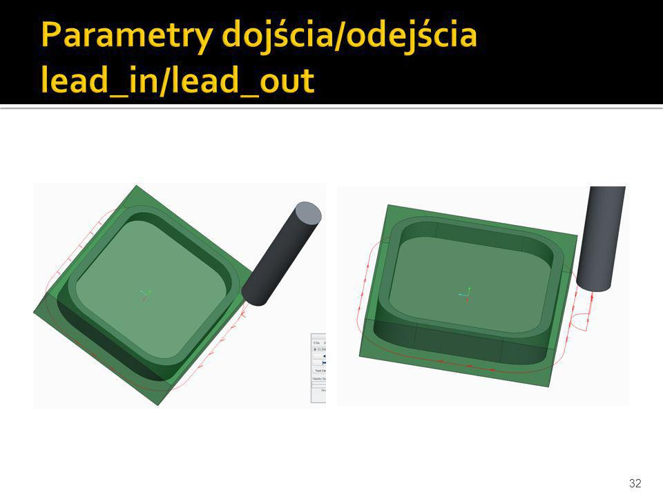Parametry dojścia/odejścia lead_in/lead_out