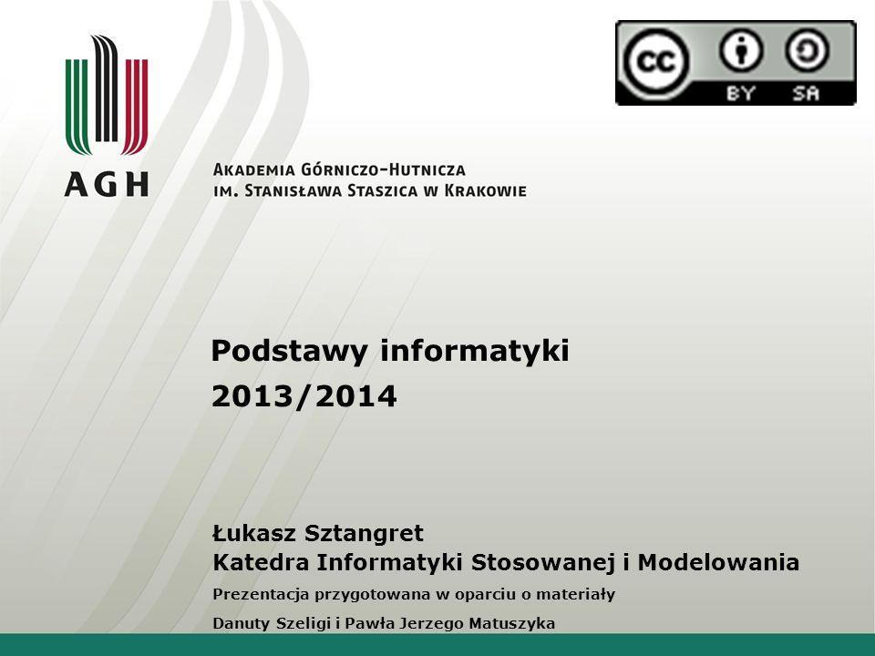 Podstawy informatyki 2013/2014