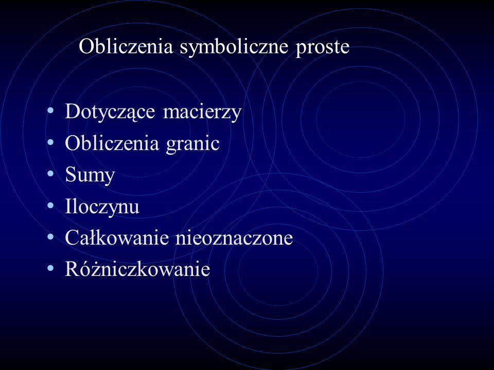 Obliczenia symboliczne proste
