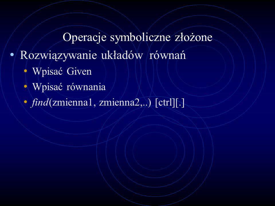 Operacje symboliczne złożone