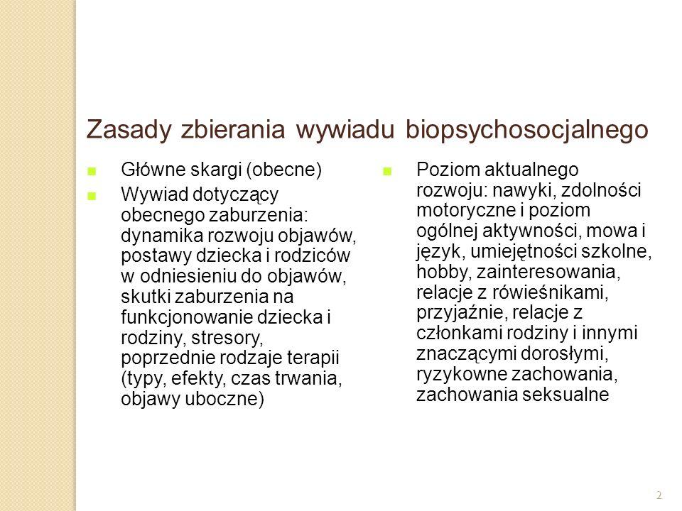 Zasady zbierania wywiadu biopsychosocjalnego