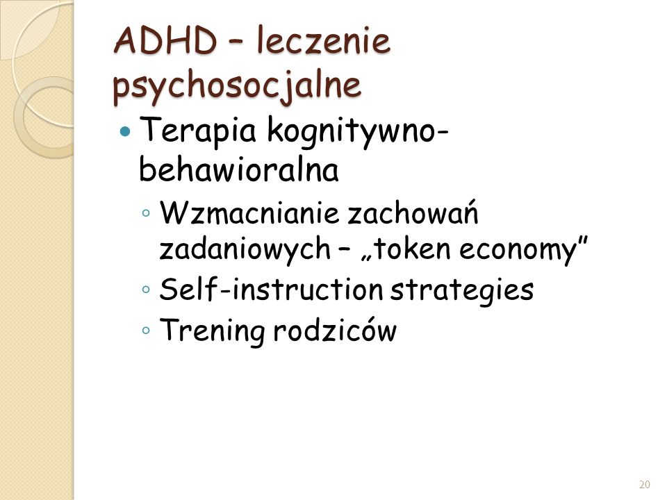 ADHD – leczenie psychosocjalne
