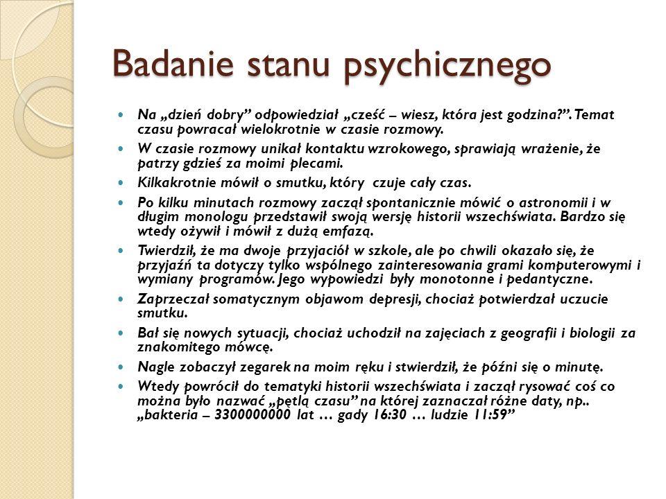 Badanie stanu psychicznego