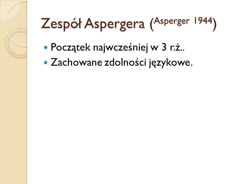 Zespół Aspergera (Asperger 1944)