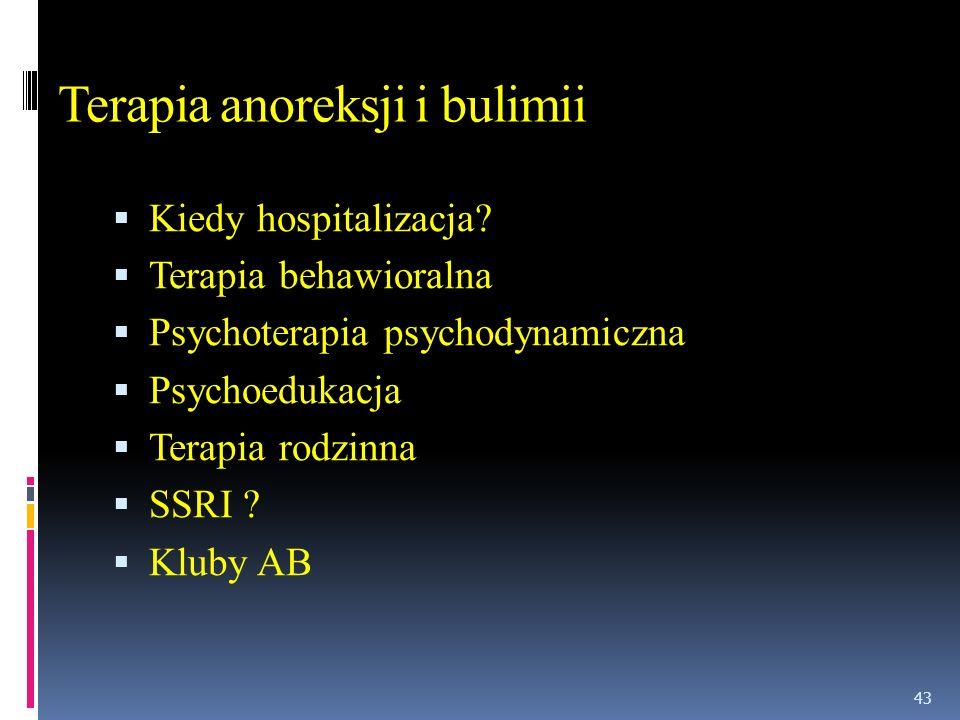 Terapia anoreksji i bulimii