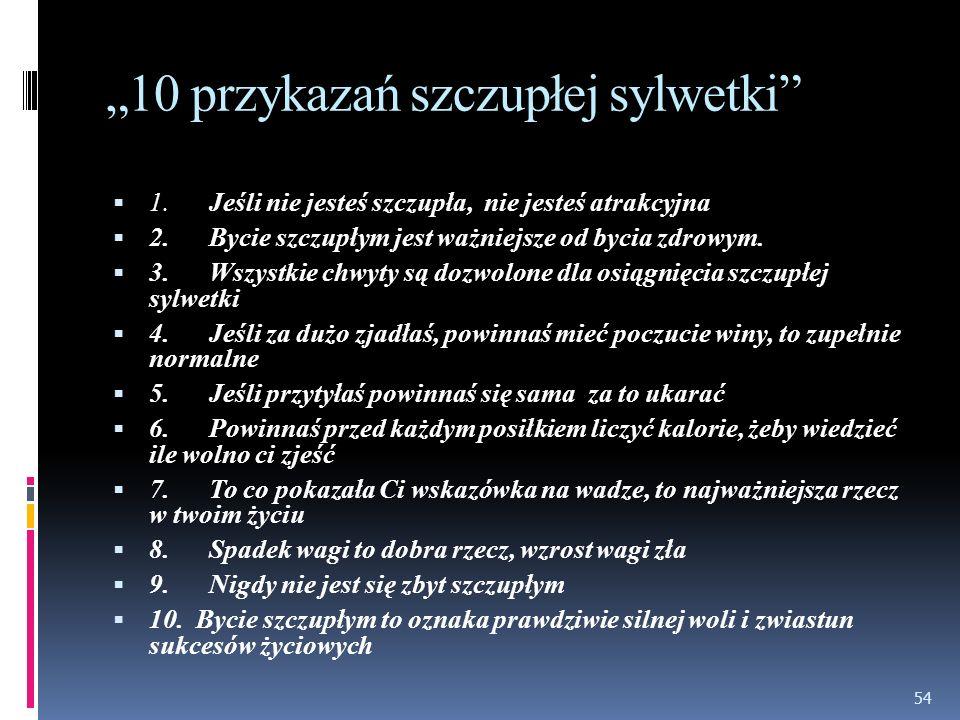 """""""10 przykazań szczupłej sylwetki"""