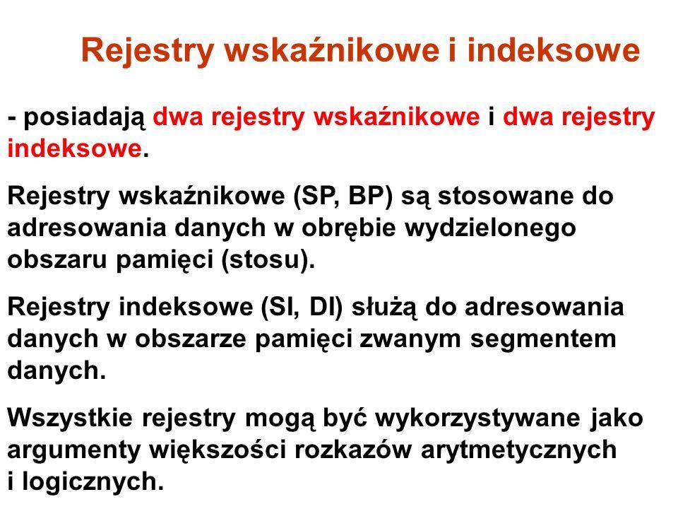 Rejestry wskaźnikowe i indeksowe