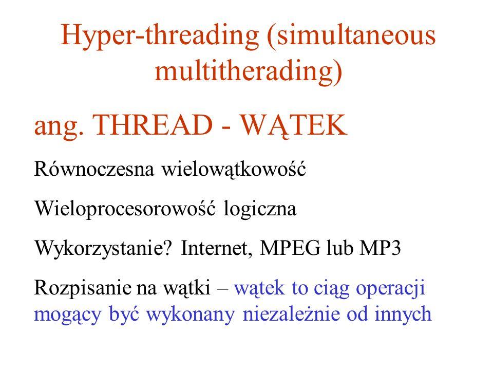 Hyper-threading (simultaneous multitherading)