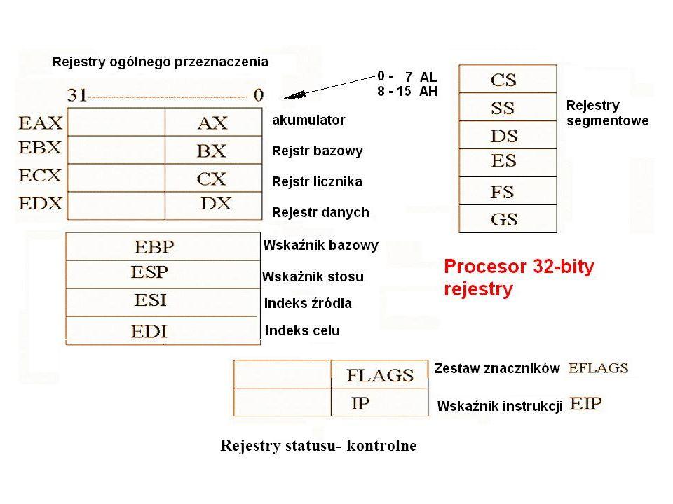 Rejestry statusu- kontrolne