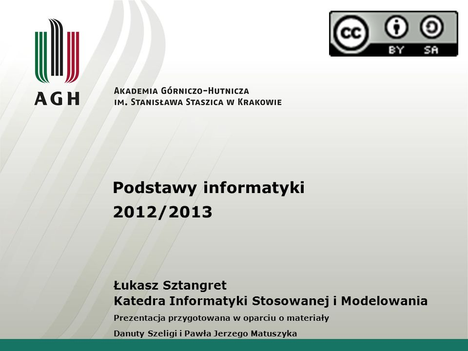 Podstawy informatyki 2012/2013