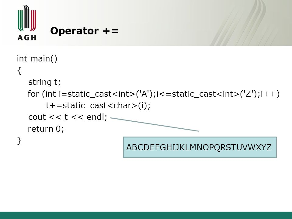 Operator +=