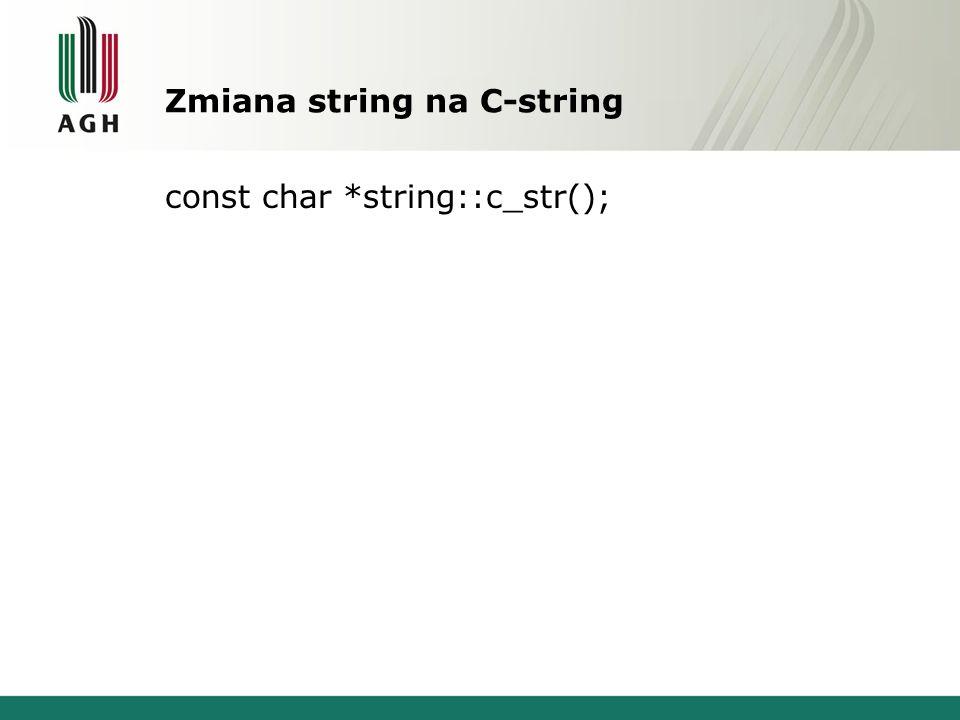 Zmiana string na C-string