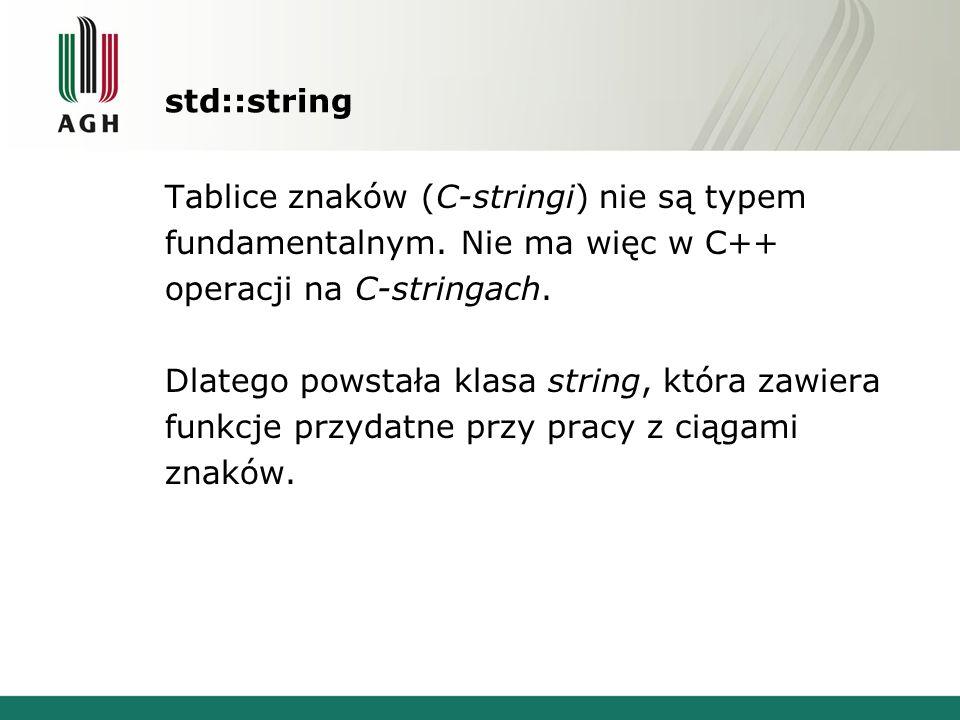 std::string