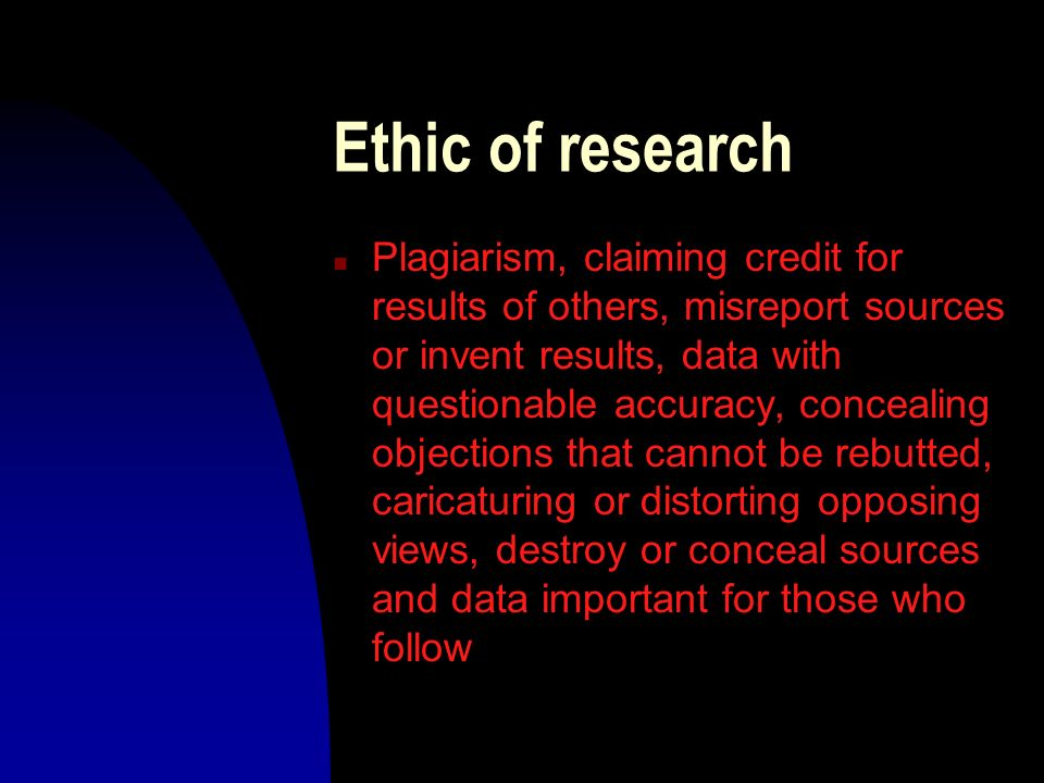 Ethic of research