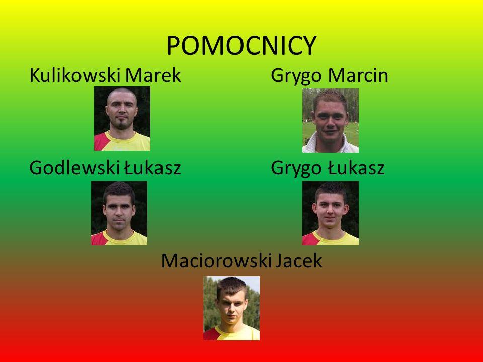 POMOCNICY Kulikowski Marek Grygo Marcin Godlewski Łukasz Grygo Łukasz