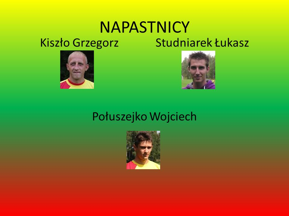 Kiszło Grzegorz Studniarek Łukasz