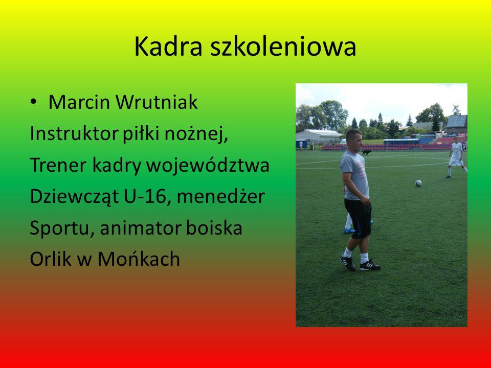 Kadra szkoleniowa Marcin Wrutniak Instruktor piłki nożnej,