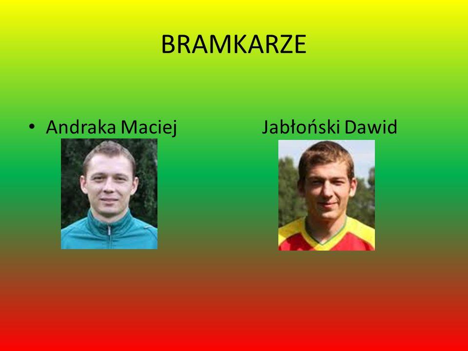 BRAMKARZE Andraka Maciej Jabłoński Dawid